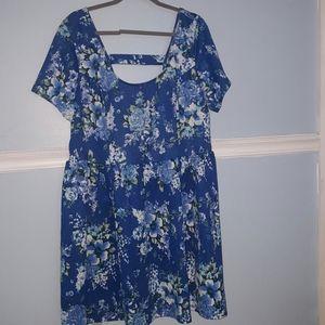 Jessica Simpson blue floral dress